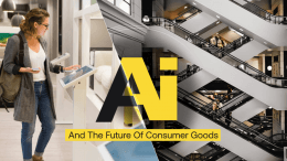 AI for consumer goods