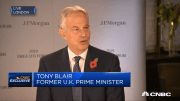 Former UK Prime Minister Tony Blair