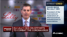 Eli Lilly CEO David Ricks coronavirus therapies
